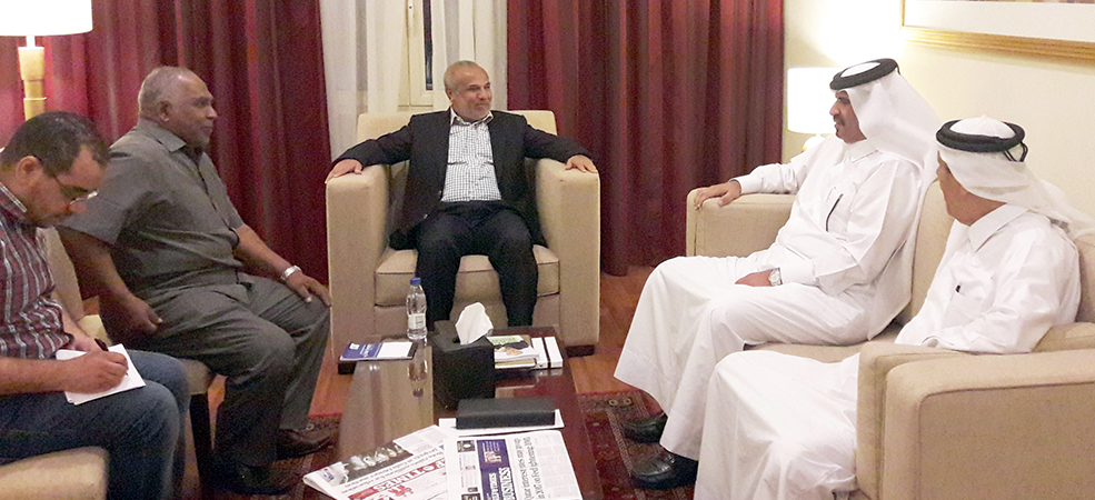 Sri Lankan Minister discusses cooperation with Qatar Chamber