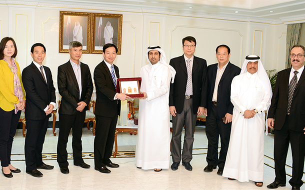 Al Sharqi meets Chinese delegation