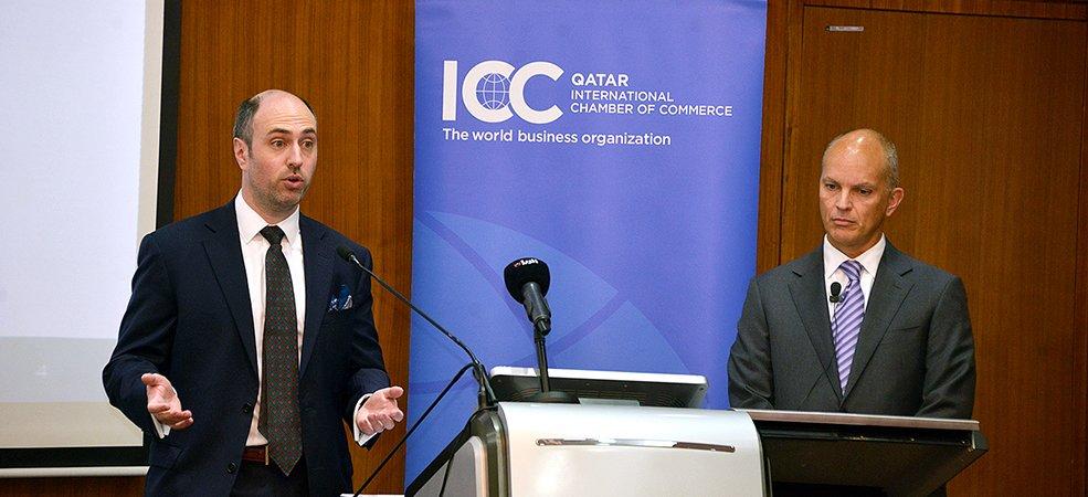 غرفة التجارة الدولية قطر وسكواير باتن بوغز يستعرضان صياغة شرط التحكيم