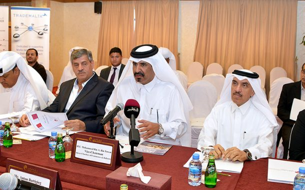 Qatar Chamber, Trade Maltese Delegation Hold Meeting