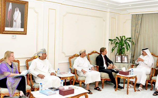 Qatar Chamber, Oman's SIPC team explore ways to enhance trade ties