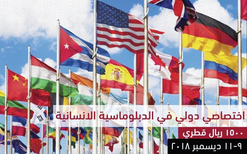اختصاصي دولي  في الدبلوماسية الانسانية