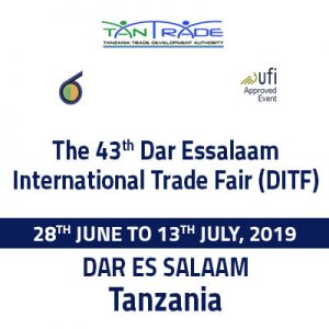 43RD DAR ES SALAAM INTERNATIONAL TRADE FAIR 2019. @ Tanzania Trade Development Authority (TanTrade),