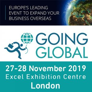 Going Global 2019 @ Excel Exhibition Centre, Sandstone Lane