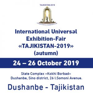 "International Universal Exhibition-Fair ""Tajikistan-2019"" (Autumn) @ State Complex ""Kohi Borbad"""